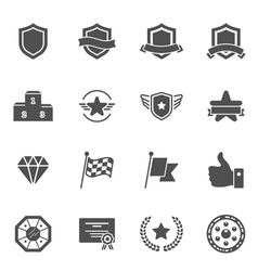 Trophy Awards solid icons vector image