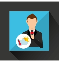 Tv news weather reporter meteorology icon vector