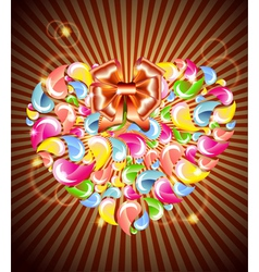 Heart splash and light vector