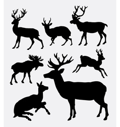 Deer wild animal silhouette vector