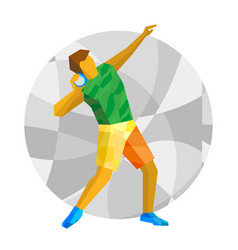 Shot put the with abstract patterns vector