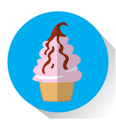 isolated ice cream vector image