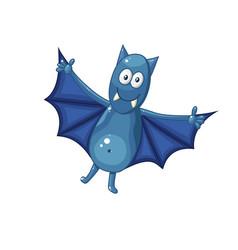 Cartoon bat isolated on white background vector