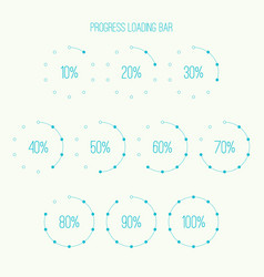 Round loader bar vector