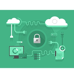 Secure Cloud Computing vector image