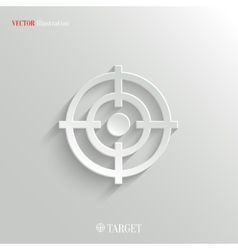 Target icon - white app button vector image