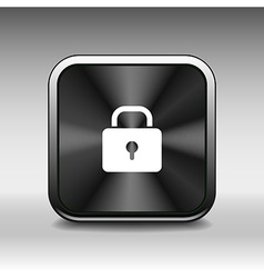 Blue lock icon with protection key password blocke vector