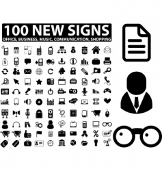business media signs vector image
