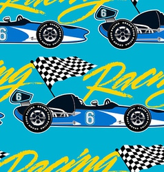 Open wheel racing car seamless pattern vector