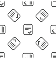 Approved document pattern vector