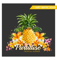 Geometric pineapple background vector