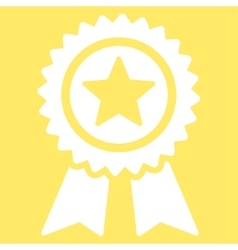 Guarantee icon from competition  success bicolor vector