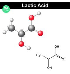 Lactic acid molecule vector image