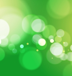 Abstract bokeh light green background vector