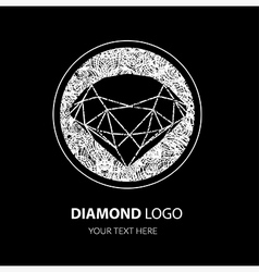Diamond grunge logo vector