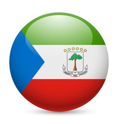 Round glossy icon of equatorial guinea vector
