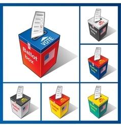 Ballot box usa vector