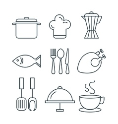 Line food design vector