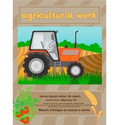 agriculture work vector image vector image