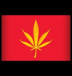 cannabis vietnam flag vector illustration vector image