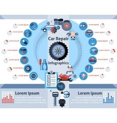 Car Repair Infographics Set vector image