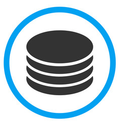 Coin stack rounded icon vector