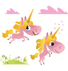 Collection of baby unicorn vector