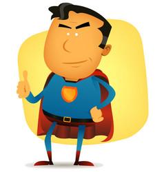 Comic superman character vector