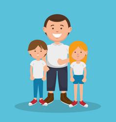 family members avatars characters vector image