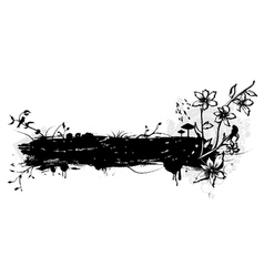 Grunge with floral and birds vector
