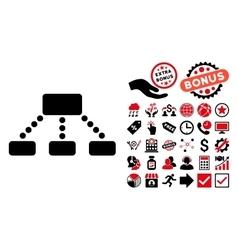 Hierarchy Flat Icon with Bonus vector image vector image