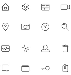 icons and buttons for your design vector image vector image