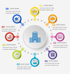 infographic template with hotel icons vector image vector image