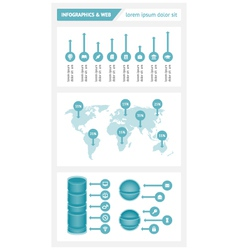 Infographics and web elements vector image vector image