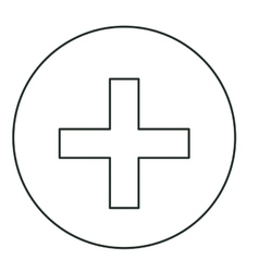 Isolated cross shape of medical care design vector