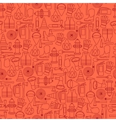 Pattern seamless of line firefighting vector