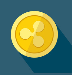 Ripple icon as golden coin vector