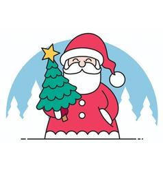 Santa flat design vector