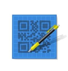 Sketch qr-code vector