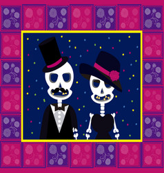 Skull couple dead vector