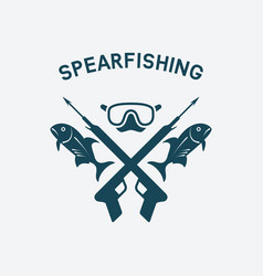 spearfishing club concept design underwater vector image vector image