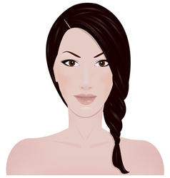 The girls face vector