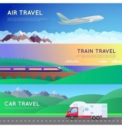 Travel panorama set vector