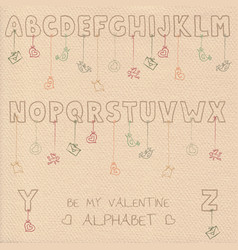 Valentine font vector