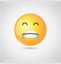 Yellow cartoon face sad negative people emotion vector