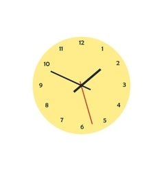 Round analog clock face icon in flat style vector