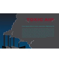 Figures air pollution caused by fumes from the vector