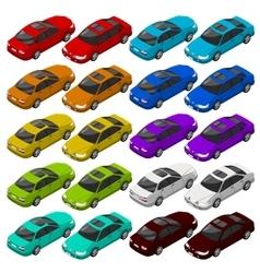 Flat isometric car vehicle city transport vector