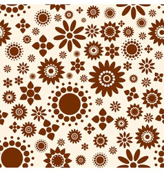 Seamless decorative floral background vector