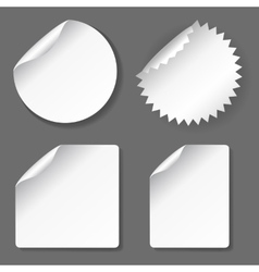 Blank stickers set vector image